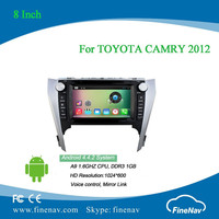Android 4.4 8 inch Multi-touch Screen car dvd player for TOYOTA CAMRY 2012 with Radio GPS BT wifi 3g bluetooth