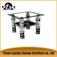 supply modern design living room furniture square shape tempered glass center table