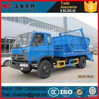 5m3 skip loader garbage truck, 5 ton hydraulic swinging garbage truck, hydraulic lifter container garbage truck