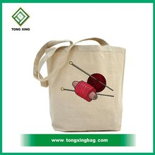 Recycled Knitting Bag Cotton Canvas Tote Bag