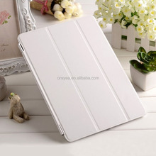 pu leather magnetic smart cover for ipad air , for ipad air leather case
