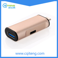 2 in 1 USB 3.0 to USB-C Type C Charger & Sync Data Adapter 1 Port Hub