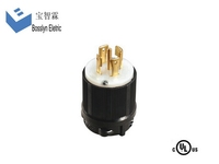L22-30P 30 Amp 277/480 Volt good quality new products power cables with 3 pins locking plug
