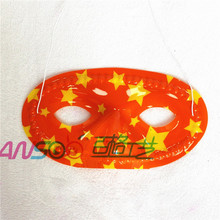 PVC color flower printing eye mask friendly material OEM design your own party mask