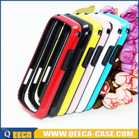 New hybrid colorful 2 in 1 pc tpu bumper case for samsung galaxy s duos s7562
