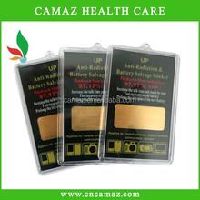 Plastic box packing golden anti radiation sticker