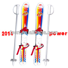 New 70/90/100cm plastic wood mini snow skis for kids