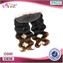 Top Quality Ombre Human Hair Remy Lace Front Closure Piece
