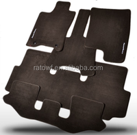 High Quality OEM universal Carpet Car Mats / Auto Mats/ Floor Mats black, red, grey, beige color for choice