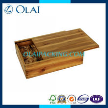 up-market luxury double bottle glossy the wine box in wood with top grade