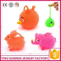 sotf plastic / pvc flexible laser bird / elephant / rabbit toys for kids