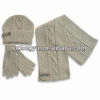 scarf hat glove set crochet