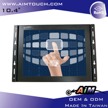 10.4 inch 4:3 Open Frame VGA USB interface 1024x768 Resistive Touch Screen