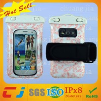 hot sale clear pvc waterproof plastic cover for samsung galaxy note with strap