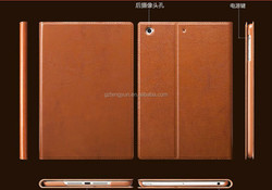 Slim Book style smart cover real Leather Case For ipad air 2