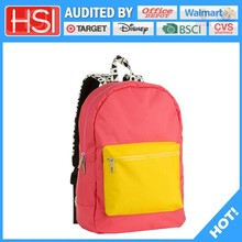 audited factory wholesale price latest cotton flannel school bag
