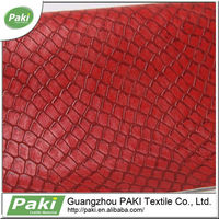 2015 fashion snake skin pattern synthetic Leather for women handbag
