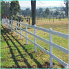 3-rail pasture fence with livestock metal fence panels