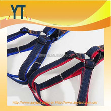 2015 new dog Leads harness leash Collars Adjustable jeans cloth red blue color for Medium Large dogs Pet Products