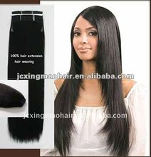 high quality silky straight indian virgin remy double drawn human hair