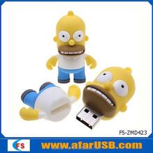 The Simpson stock USB flash drive in 3D cartoon shape usb flash memory 2gb, 4gb, 8gb, 16gb, 32gb