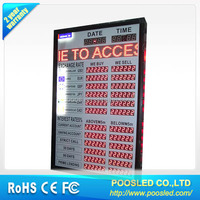 led rate currency sign \ led exchange bank screen \ led exchange rate screen