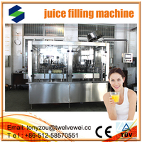 Complete line 2012 new automatic juice production line/machine RCGF automatic 3 in1 juce filling machine