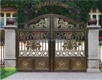 new kinds of aluminum main gate/aluminum door designs for sale