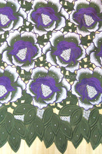 Big handcut voile lace with stones