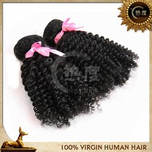 unprocessed virgin brazilian hair3pcs/lot afro kinky Curly Virgin Hair 8''-30''hair extension remy human hair natural black hair