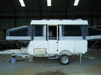 fiberglass bus mobile home caravan