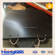 outrigger pads/ pe support pad 500x500x50mm/chemical and oil resistant red crane outrigger pad for lifting crane