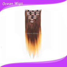 Factory direct selling Peruvian clip in hair extension,clip hair