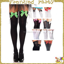 Girl bow knee high sock christmas stocking FGH-0119