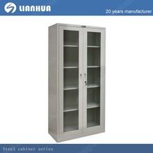 simple cupboard design/glass door metal wardrobe cupboard