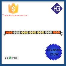 210W Amber/White Led Work Strobe Light Bar SPOT FLOOD Offroad 4x4 Warning led bar fog light