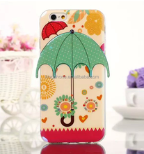 for apple iphone 6 umbrella series 3D soft mobile phone case