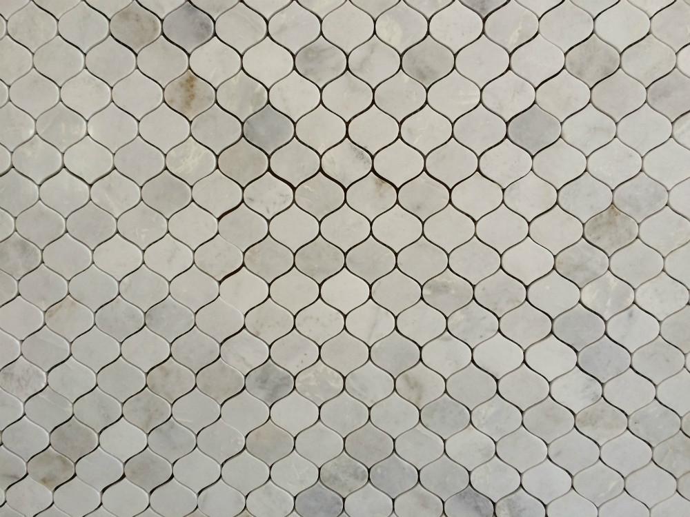 흰색 대리석 모자이크, 자연 marbal 모자이크 타일, 욕실 장식 벽 ...