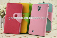 Wholesale nice candy color leather cover for samsung s4 case for girl