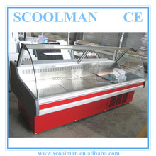 Front Curved Glass Closed Food Display Equipment