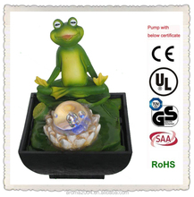 resin frog ornament frog water fountain yoga frog