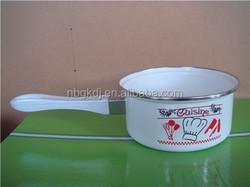 enamel single handle sauce pans with bakelite handle