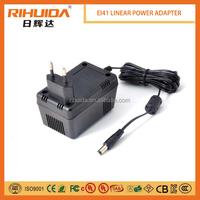 EI41 wall mount 12v 600ma linear power adaptor.