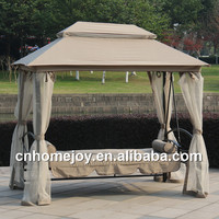 Deluxe outdoor patio swing bed with mosquito nets
