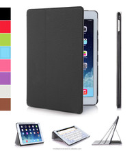 Ultra thin folio stand PU leather tablet case for Ipad air 2