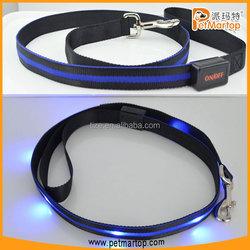 Original Nylon led dog leash TZ-PET6102 custom print logo dog leash