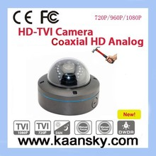 new product vandal- proof HD-TVI CCTV dome camera housing with 2 megapixel