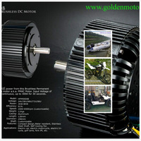 5KW bldc motor for electric motorcycle, fan cooling system