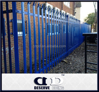 Anti uv blue palisade fence/Steel Q235 palisade fence/Cost effective palisade fencing