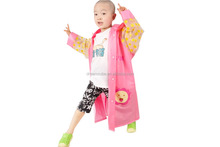 100% TPU waterproof rain coat kids
